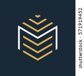 modern letter m logo.  | Shutterstock .eps vector #571919452