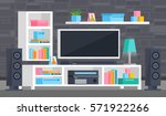 a set of furniture for the... | Shutterstock .eps vector #571922266