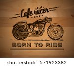 vector motorcycle inspirational ... | Shutterstock .eps vector #571923382