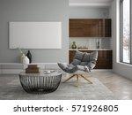 interior of modern design room... | Shutterstock . vector #571926805