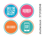 bar and qr code icons. scan... | Shutterstock . vector #571928548