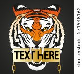 place for text. tiger... | Shutterstock .eps vector #571948162