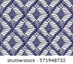 knitted seamless patterns.... | Shutterstock .eps vector #571948732