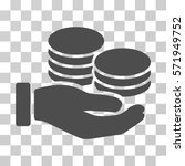 salary hand icon. vector... | Shutterstock .eps vector #571949752