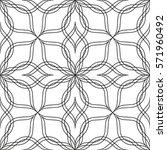 seamless geometric pattern.... | Shutterstock .eps vector #571960492