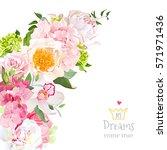 spring floral mix vector design ... | Shutterstock .eps vector #571971436