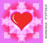 heart on a pink background   Shutterstock .eps vector #571972615