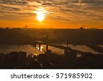 istanbul at sunset. istanbul... | Shutterstock . vector #571985902