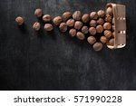 top view image of a lot of... | Shutterstock . vector #571990228