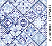 vintage seamless pattern in... | Shutterstock .eps vector #571992658