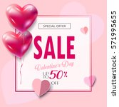 sale discount banner for... | Shutterstock .eps vector #571995655