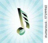 3d treble clef vector... | Shutterstock .eps vector #57199960