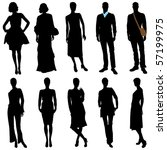 vector fashion model silhouettes | Shutterstock .eps vector #57199975