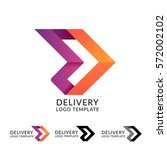 abstract delivery logo icon... | Shutterstock .eps vector #572002102
