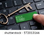 closed up finger on keyboard... | Shutterstock . vector #572013166