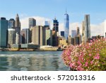 view of lower manhattan from... | Shutterstock . vector #572013316