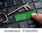 closed up finger on keyboard... | Shutterstock . vector #572013592