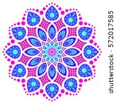 blue  pink and violet round... | Shutterstock .eps vector #572017585