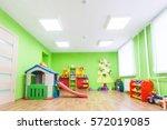 green game room in the... | Shutterstock . vector #572019085