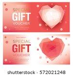 gift certificate. gift card....   Shutterstock .eps vector #572021248