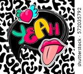 fashion patch badges elements... | Shutterstock .eps vector #572035792