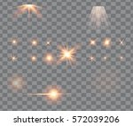 glowing lights  stars and... | Shutterstock .eps vector #572039206