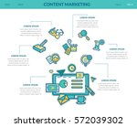 content marketing. concept for... | Shutterstock .eps vector #572039302