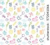 doodle children drawing...   Shutterstock .eps vector #572041066