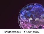 digital world map. global... | Shutterstock . vector #572045002