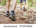 hiking in the forest  closeup... | Shutterstock . vector #572045086