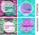 set of creative art vector... | Shutterstock .eps vector #572046136