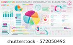colorful corporate infographic... | Shutterstock .eps vector #572050492