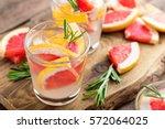 refreshing drink  grapefruit...   Shutterstock . vector #572064025