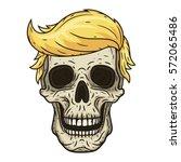 the skull of donald trump....