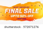 final sale discount coupon... | Shutterstock .eps vector #572071276