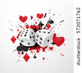 Abstract Dice Background With...