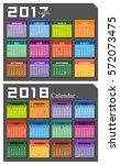 vector 2017 2018 calendar   Shutterstock .eps vector #572073475