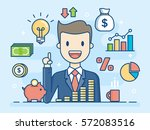 investor. smart investment.... | Shutterstock .eps vector #572083516