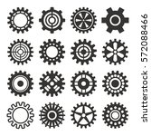 gear icons silhouette isolated...