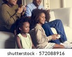 african descent family house... | Shutterstock . vector #572088916
