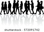 group of people. crowd of... | Shutterstock .eps vector #572091742
