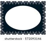 oval photo frame border passe... | Shutterstock .eps vector #572093146