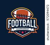 american football logo sport | Shutterstock .eps vector #572094472