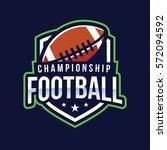 american football logo sport   Shutterstock .eps vector #572094592