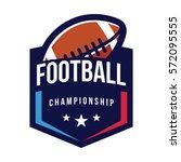 american football championship... | Shutterstock .eps vector #572095555