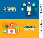 online shopping illustration... | Shutterstock .eps vector #572096656