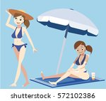 sea tourism. protect skin from... | Shutterstock .eps vector #572102386