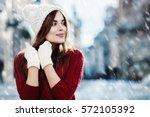 outdoor waist up portrait.... | Shutterstock . vector #572105392