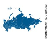 vector map russia country | Shutterstock .eps vector #572106052