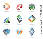 various colorful abstract icons ... | Shutterstock .eps vector #57210841